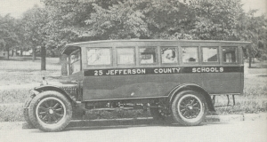 JIM CAWTHON'S SCHOOL BUS.(Jim looked much younger then.)(Click to enlarge.)