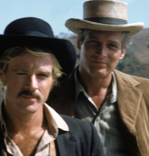 ROBERT REDFORD AND PAUL NEWMAN STAR IN 'BUTCH CASSIDY AND THE SUNDANCE KID'