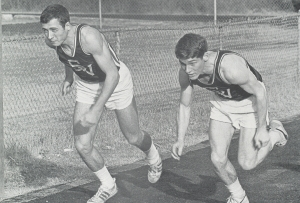 MARK MERITT AND BILL MONTGOMERY WERE TWO OF OUR FINE SPRINTERS.(Click to enlarge.)